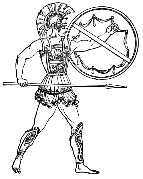Greek Warrior Clipart - Clipart Kid