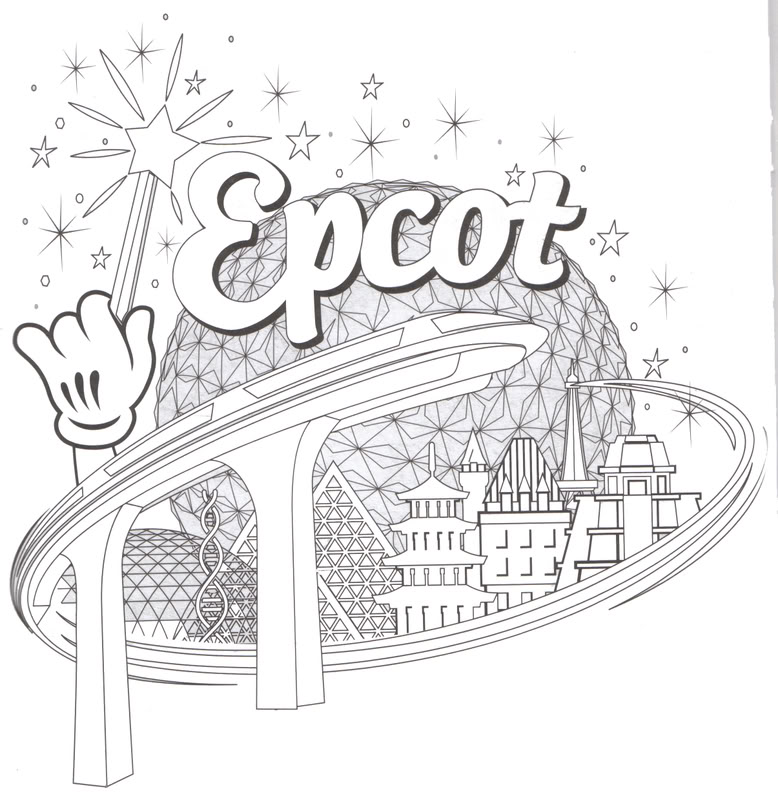 Kids Disney Activity Book    Updated 4 25 Epcot Around The World