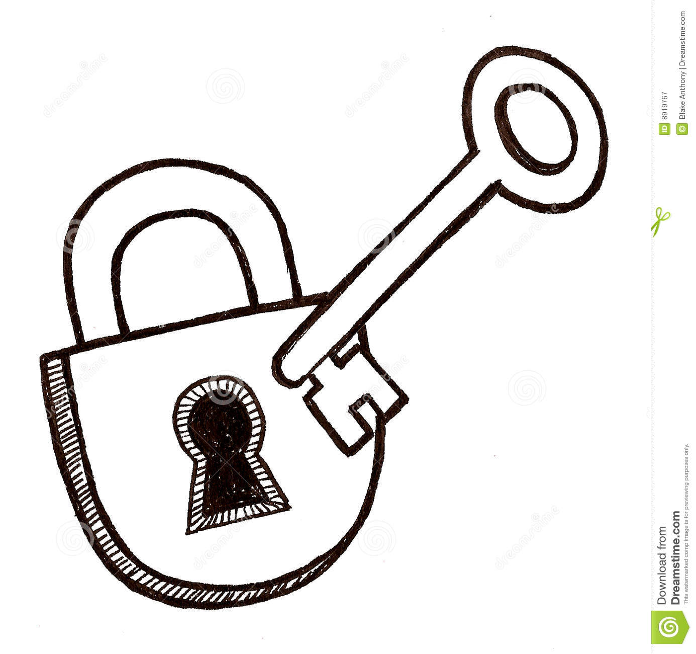 padlock and key clipart - photo #13