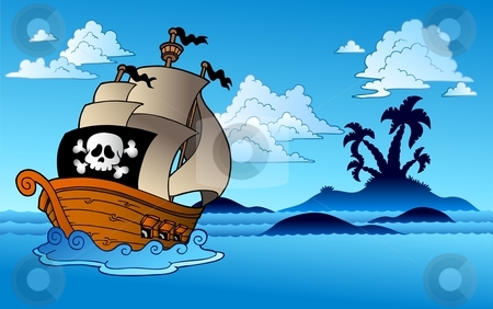 Pirate Island Clipart - Clipart Kid
