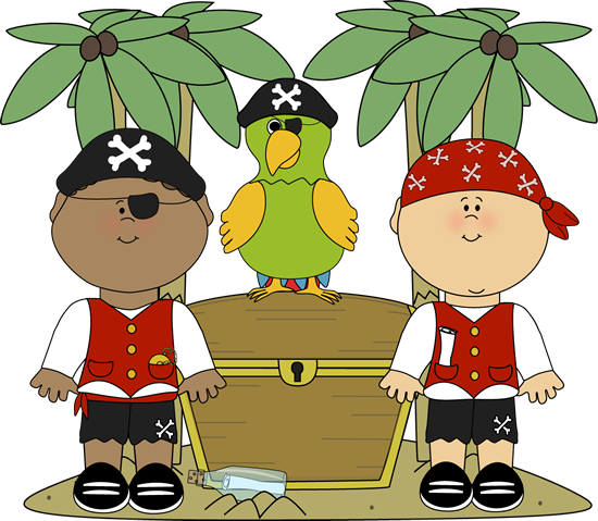 pirate island clipart