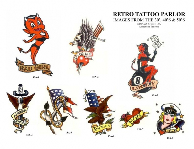 Retro Tattoo Parlor Clipart