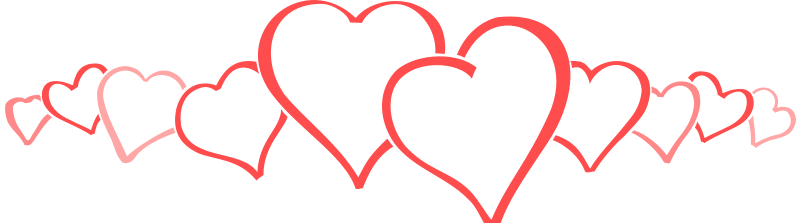Row Of Hearts Png