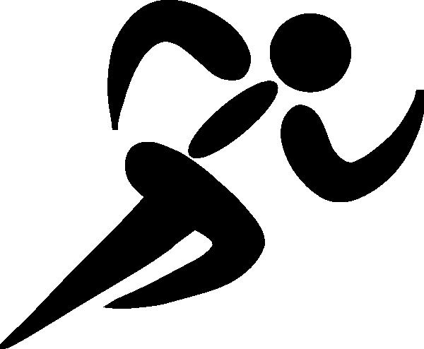 Clip Art Black White Runner Clipart - Clipart Suggest
