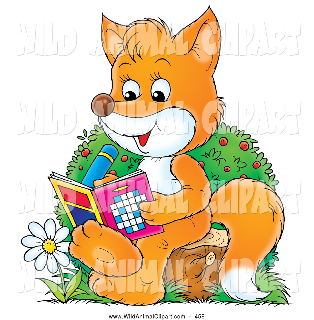 Sitting On A Tree Stump By A Flower Doing Puzzles In An Activity Book