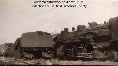 Steam Train Wreck Train Wreck Squa Pan 1945