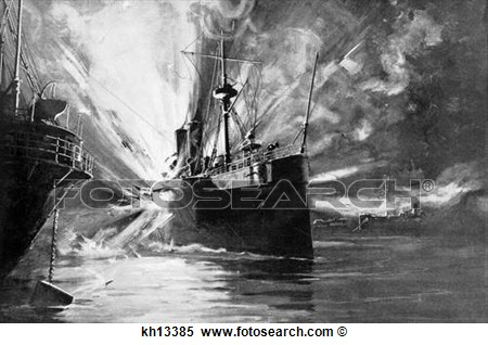 Stock Image Of 1890s Uss Maine Sunk By Mystery Explosion Havana Cuba