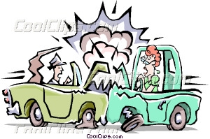 Traffic Accident Vector Clip Art