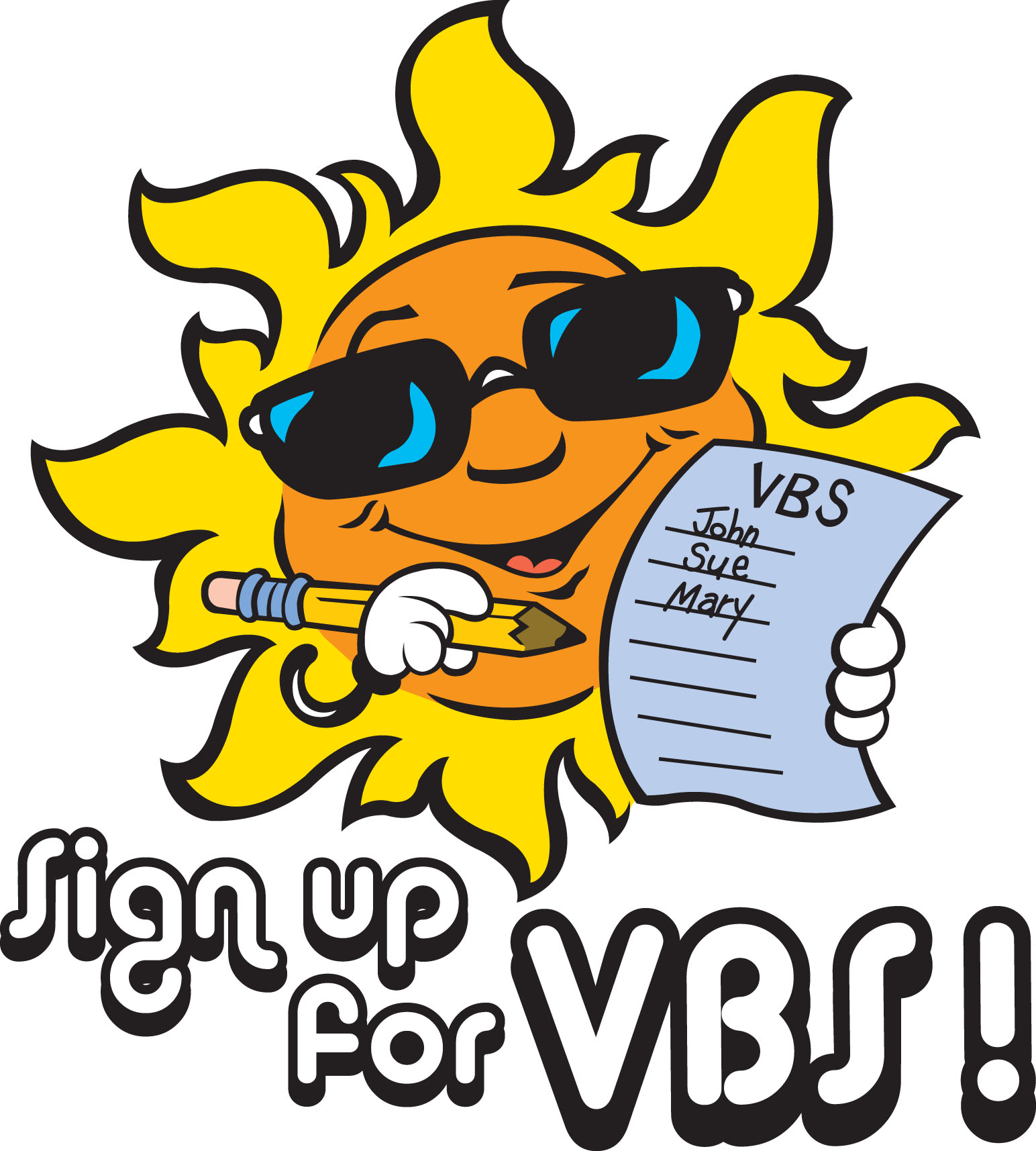 Vbs Sign Up Clipart - Clipart Kid