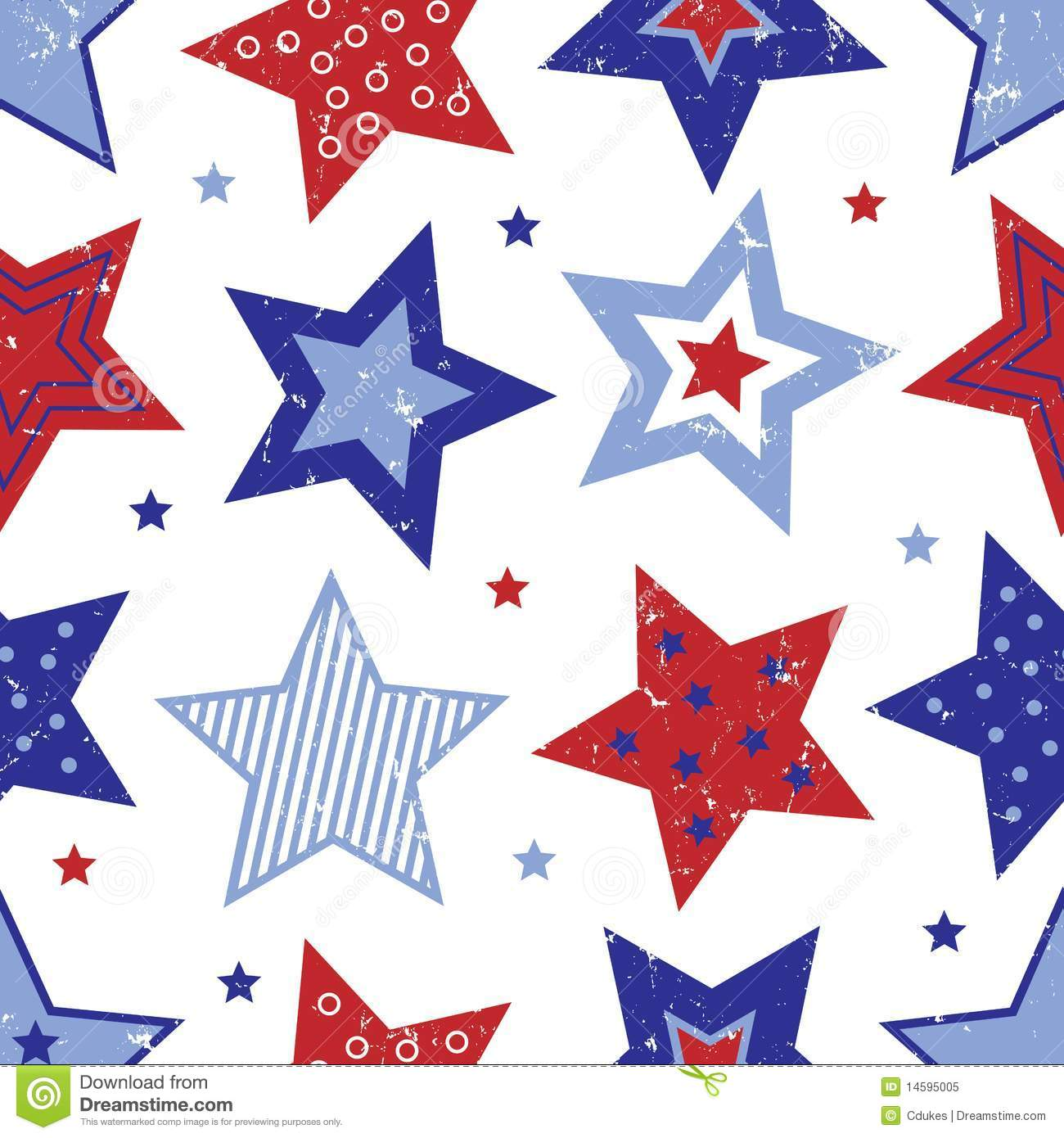 4th Of July Star Clipart Fourth Of July Stars Pattern