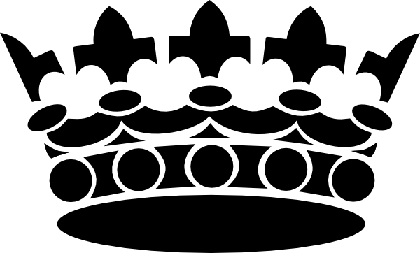Black Crown Clip Art At Clker Com   Vector Clip Art Online Royalty
