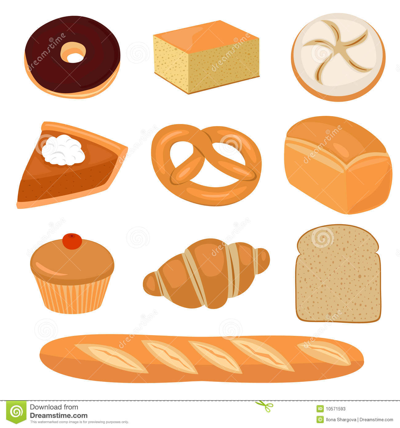Bread And Pastry Clip Art Stock Photos   Image  10571593