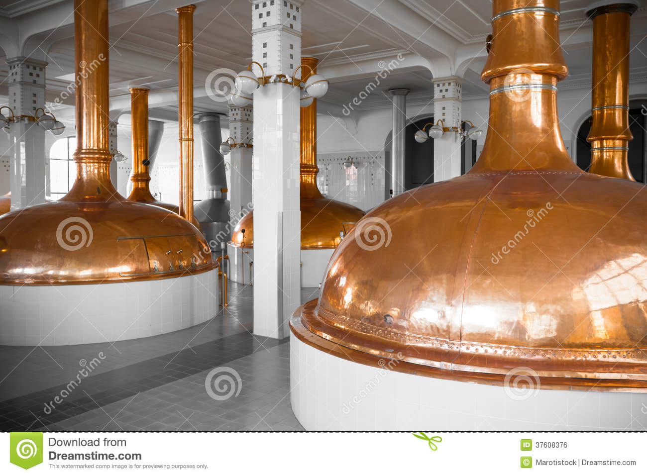 Brewery Building Interior Royalty Free Stock Image   Image  37608376