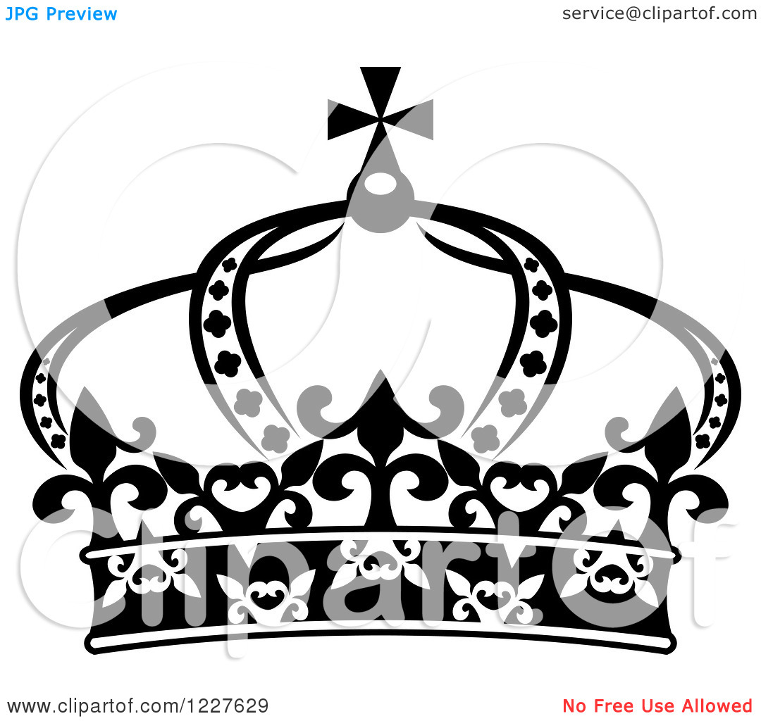 Crown black and white clipart - photo#22