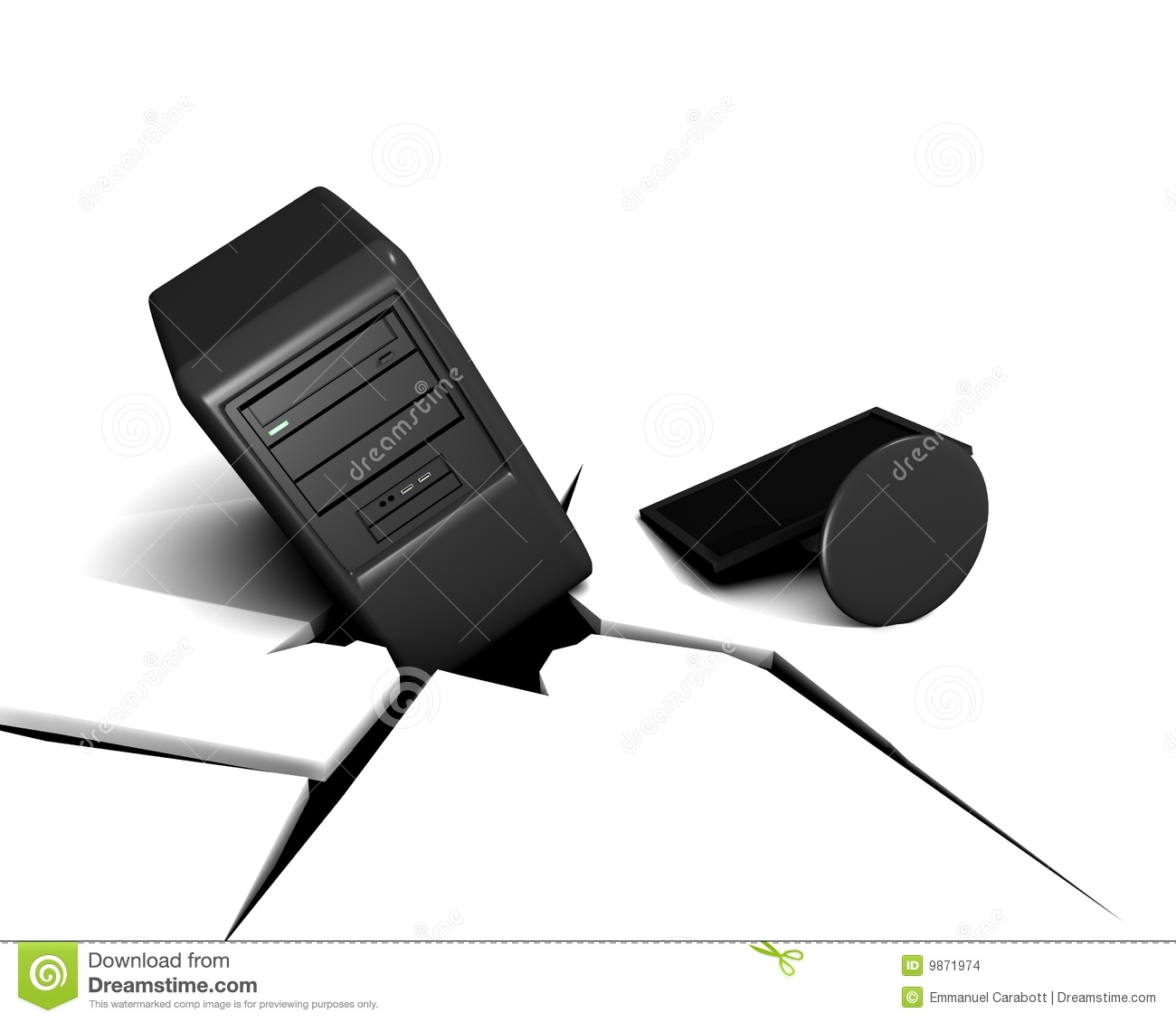 Computer Crash Stock Images   Image  9871974