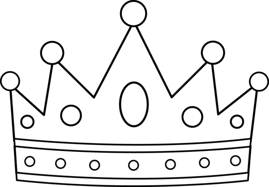 Crown black and white clipart - photo#15