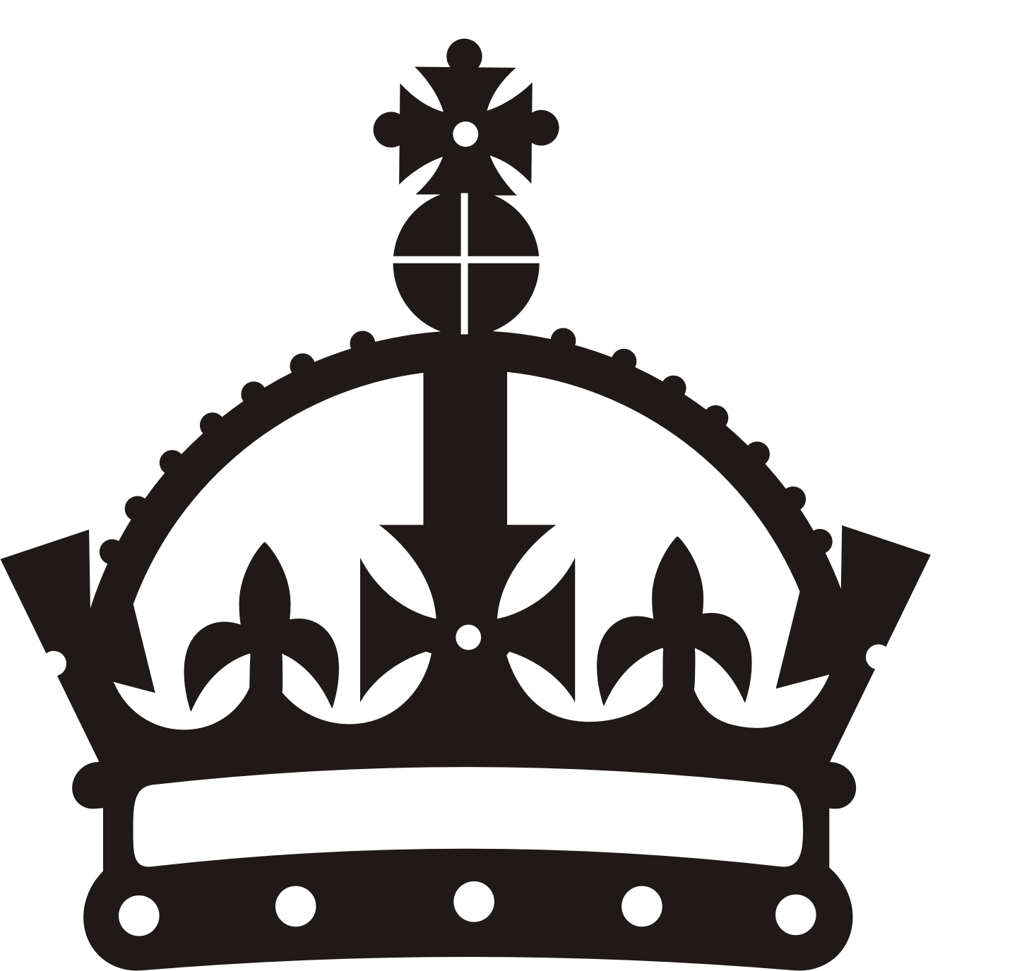 King Crown Black And White