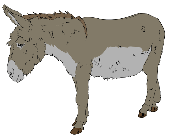 Description Donkey Clipart 01 Svg