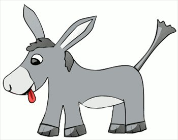 Free Donkey Simple Clipart   Free Clipart Graphics Images And Photos