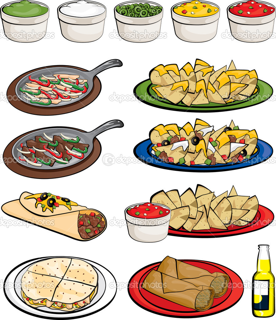 Mexican Food Restaurant Clipart - Clipart Kid