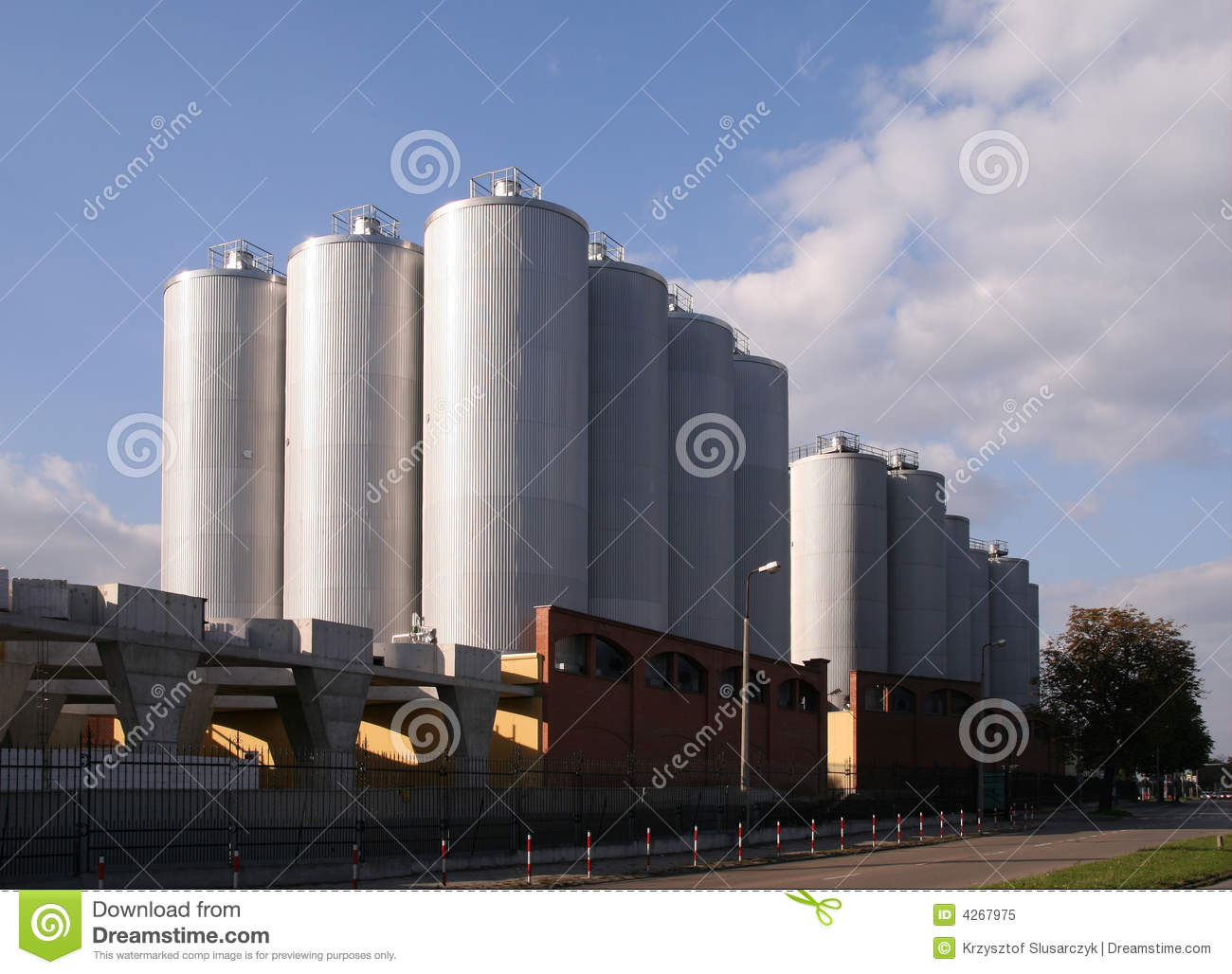 Gigantic Brewery In Tychy Poland  Industrial Facility Exterior