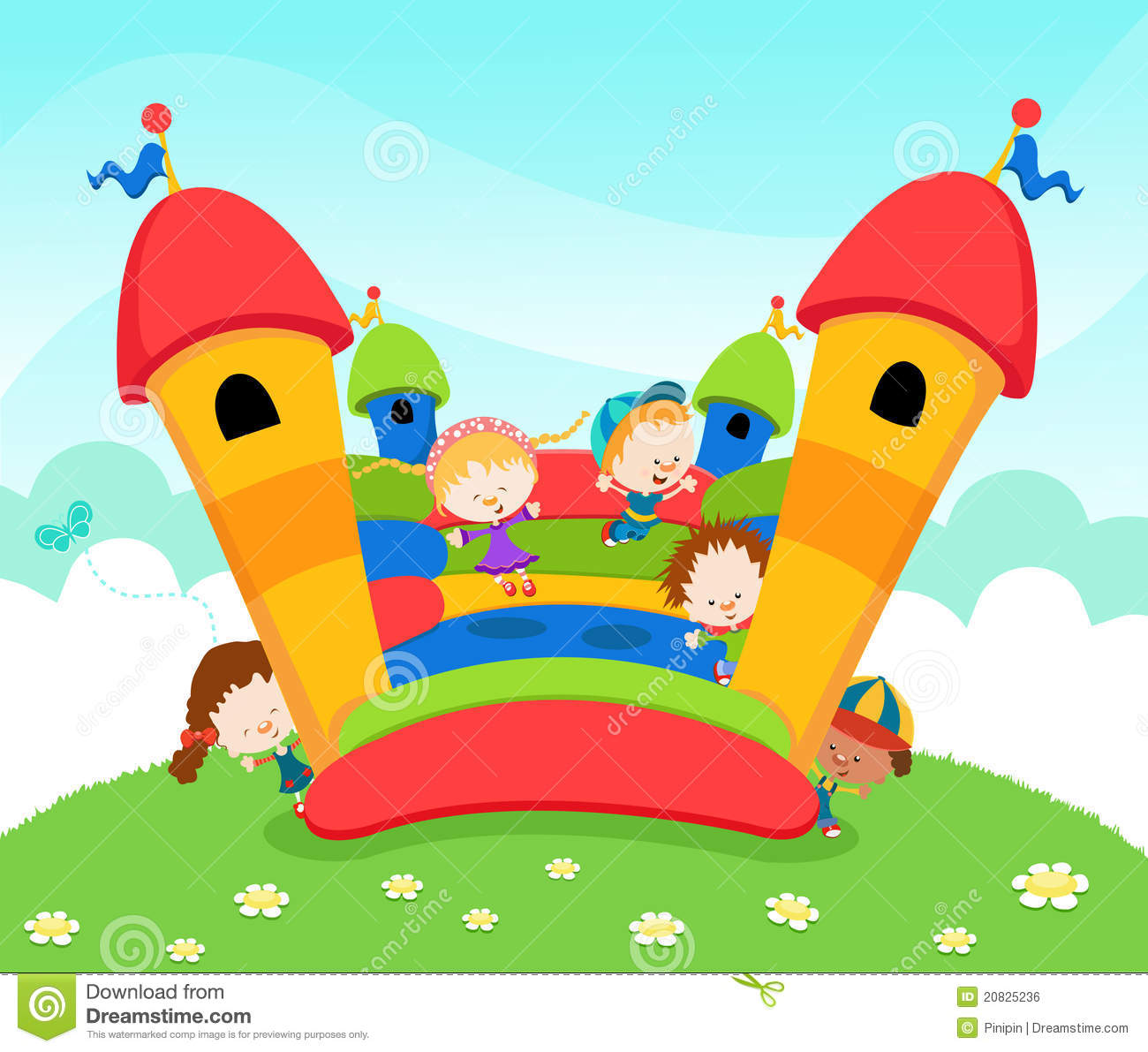 Bouncy Castle Clipart - Clipart Kid
