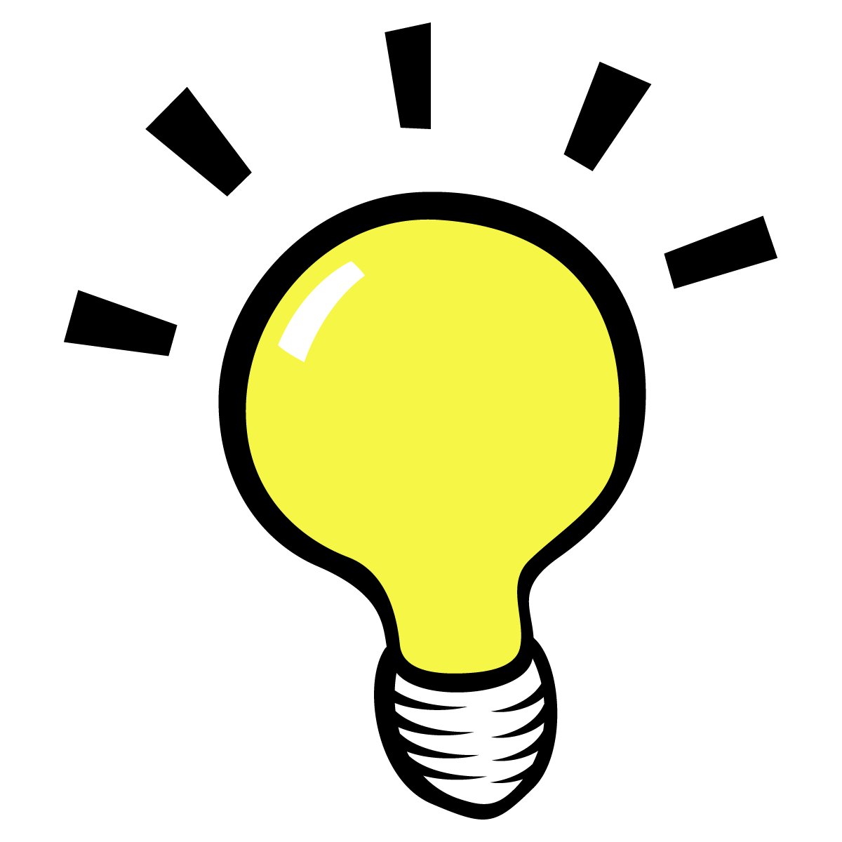 Light Bulb Thinking Clipart - Clipart Kid