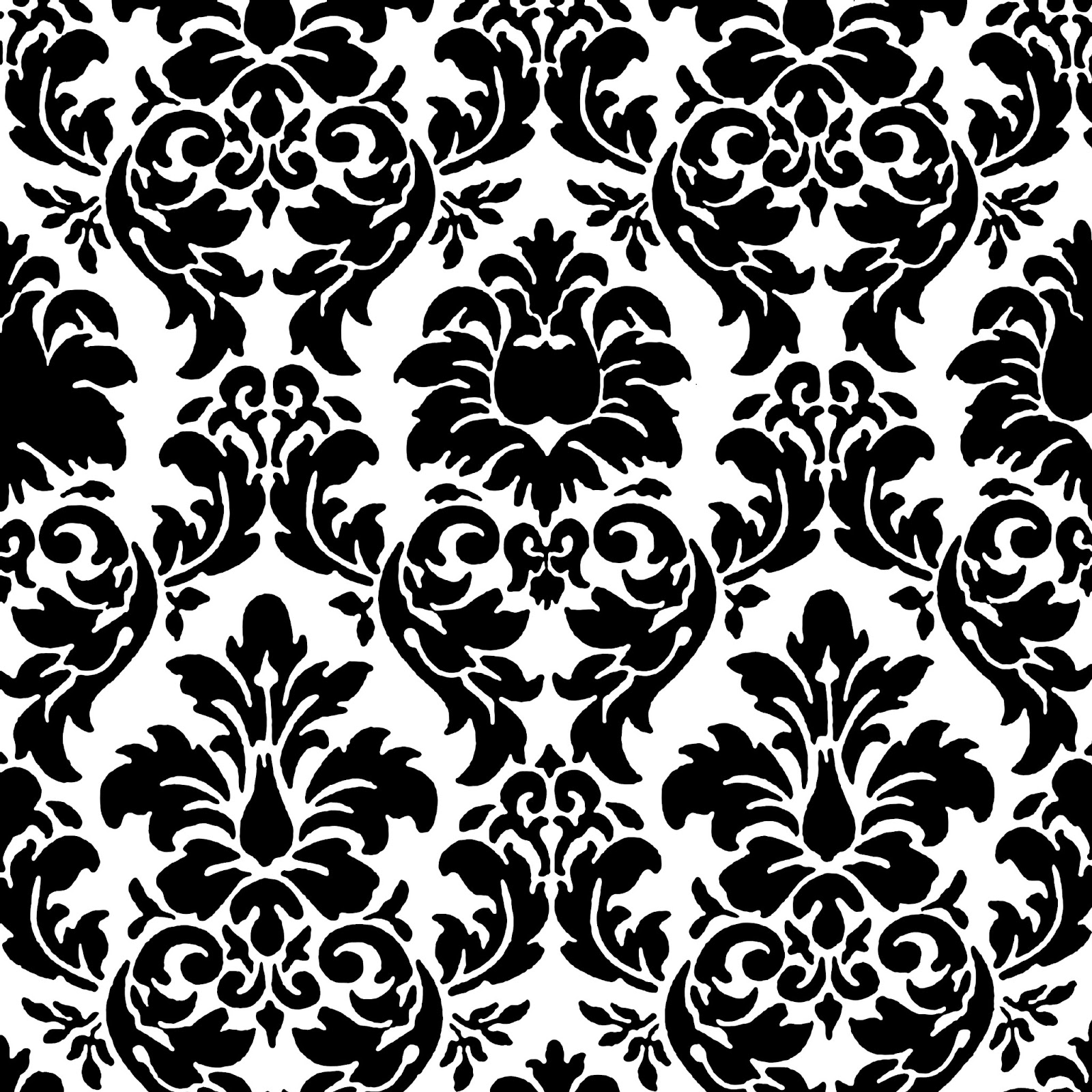 Black And White Damask Wallpaper Border