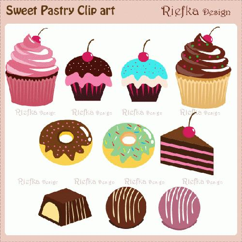 Pastry Clipart Sweet Pastry Clipart
