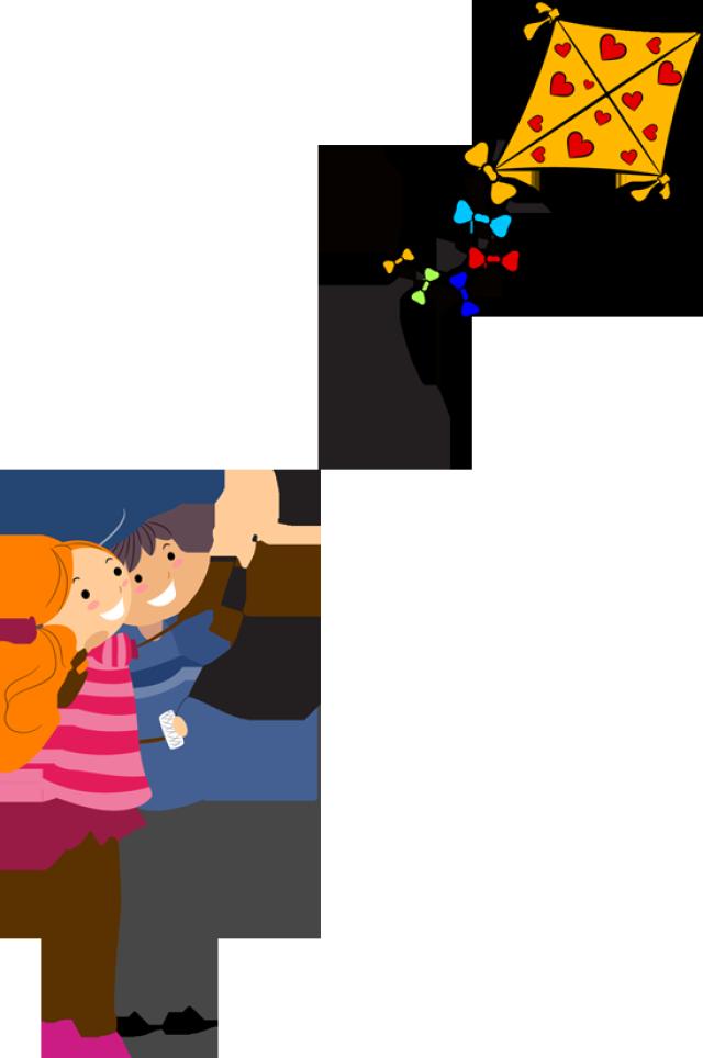 Kite Flying Clipart - Clipart Kid