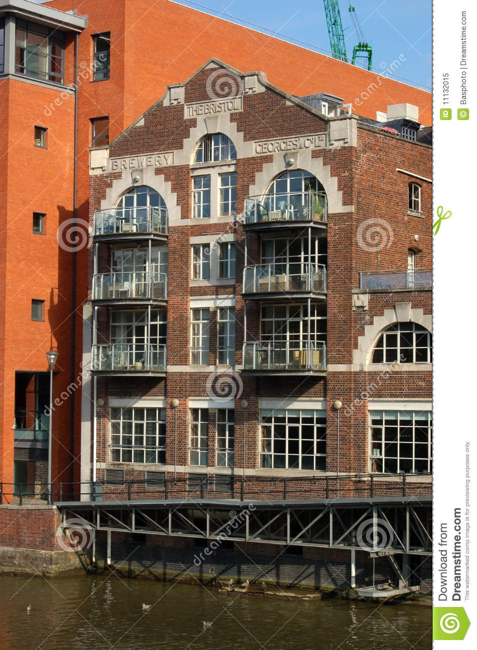The Former Brewery Building Overlooking Bristol S Avon River  Built In