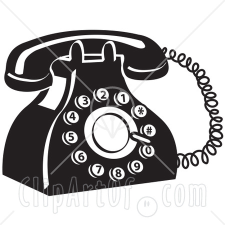 Old Telephone Clipart - Clipart Kid