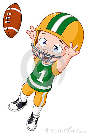 American Football Player Clipart Young Kid Playing American