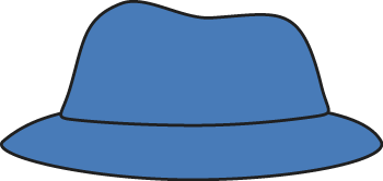 Blue Hat Clip Art   Blue Hat With A Black Outline  This Is A