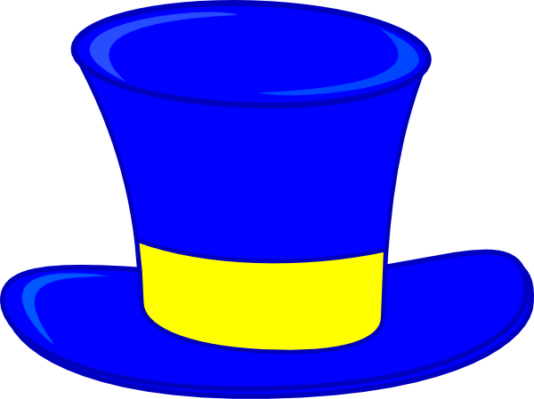 Blue Top Hat Clip Art At Clker Com   Vector Clip Art Online Royalty