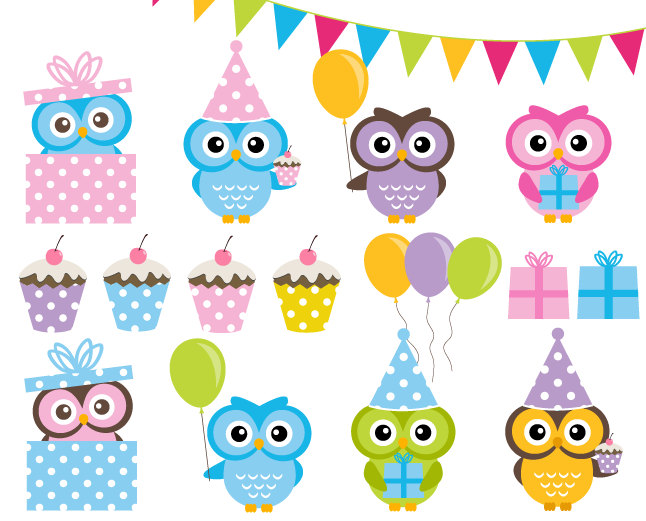 Buy 2 Get 2 Free Birthday Party Clip Art By Dennisgraphicdesign