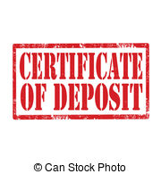 Certificate Of Deposit Stamp   Grunge Rubber Stamp With Text