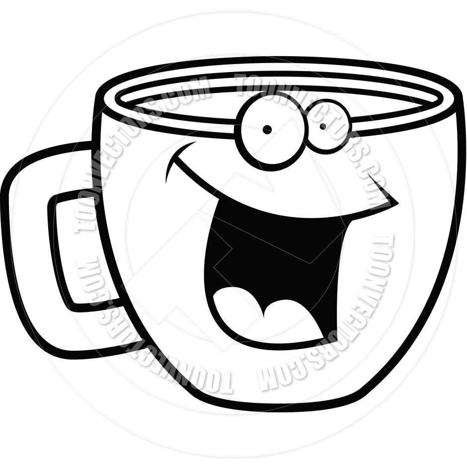 Clip Art Black And White Tea Clipart - Clipart Suggest