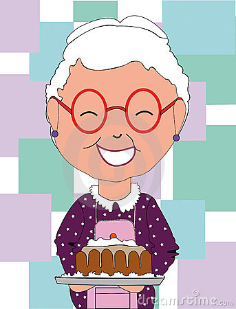 Baking Grandma And Granddaughter Clipart - Clipart Kid