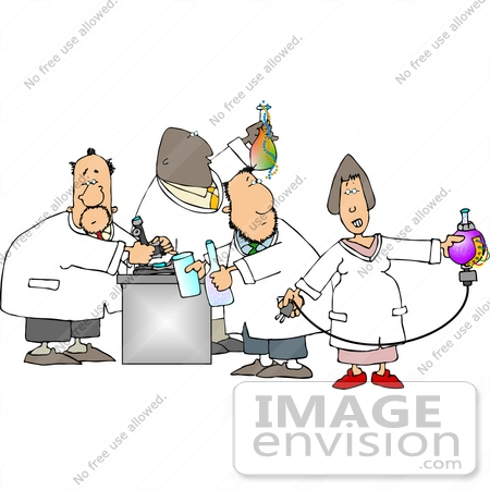 Group Of Scientists Working In A Laboratory Clipart    14815 By Djart