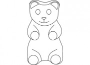 Gummy Bear Sweets B W This Black And White Outline Illustration Gummy