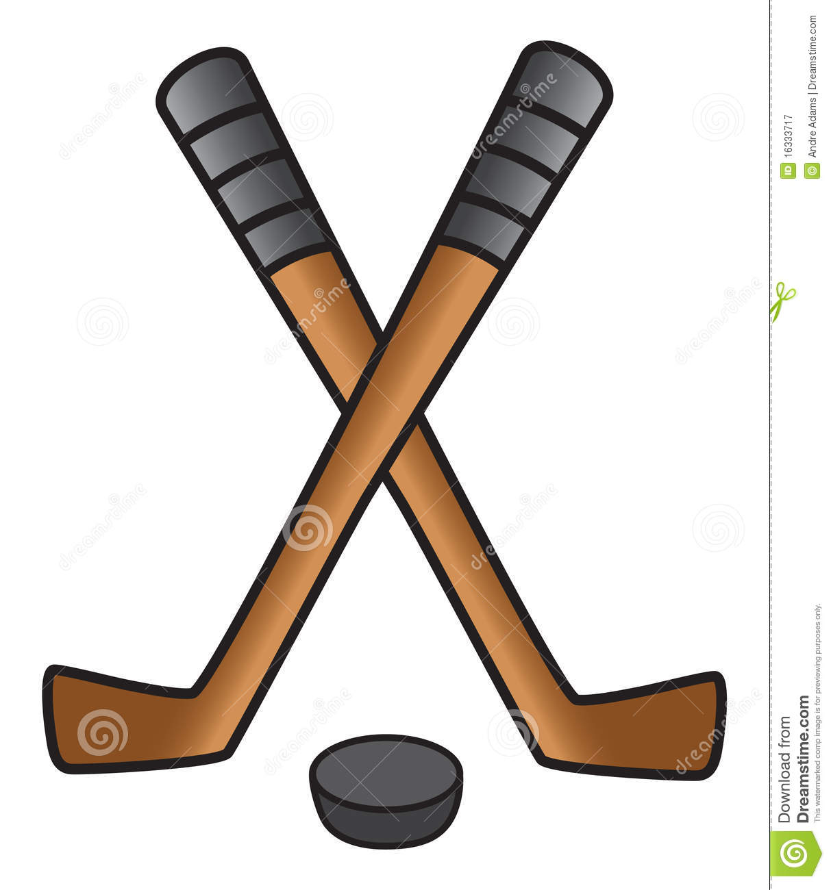 Hockey Stick   Puck Royalty Free Stock Photography   Image  16333717
