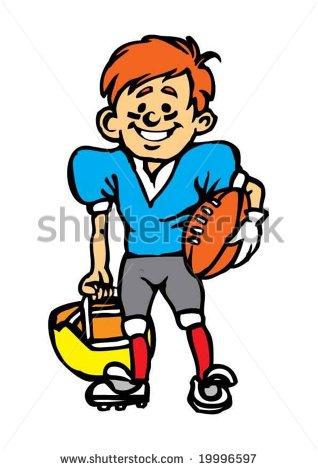 Kids Playing American Football Clipart American Football Kid   Stock