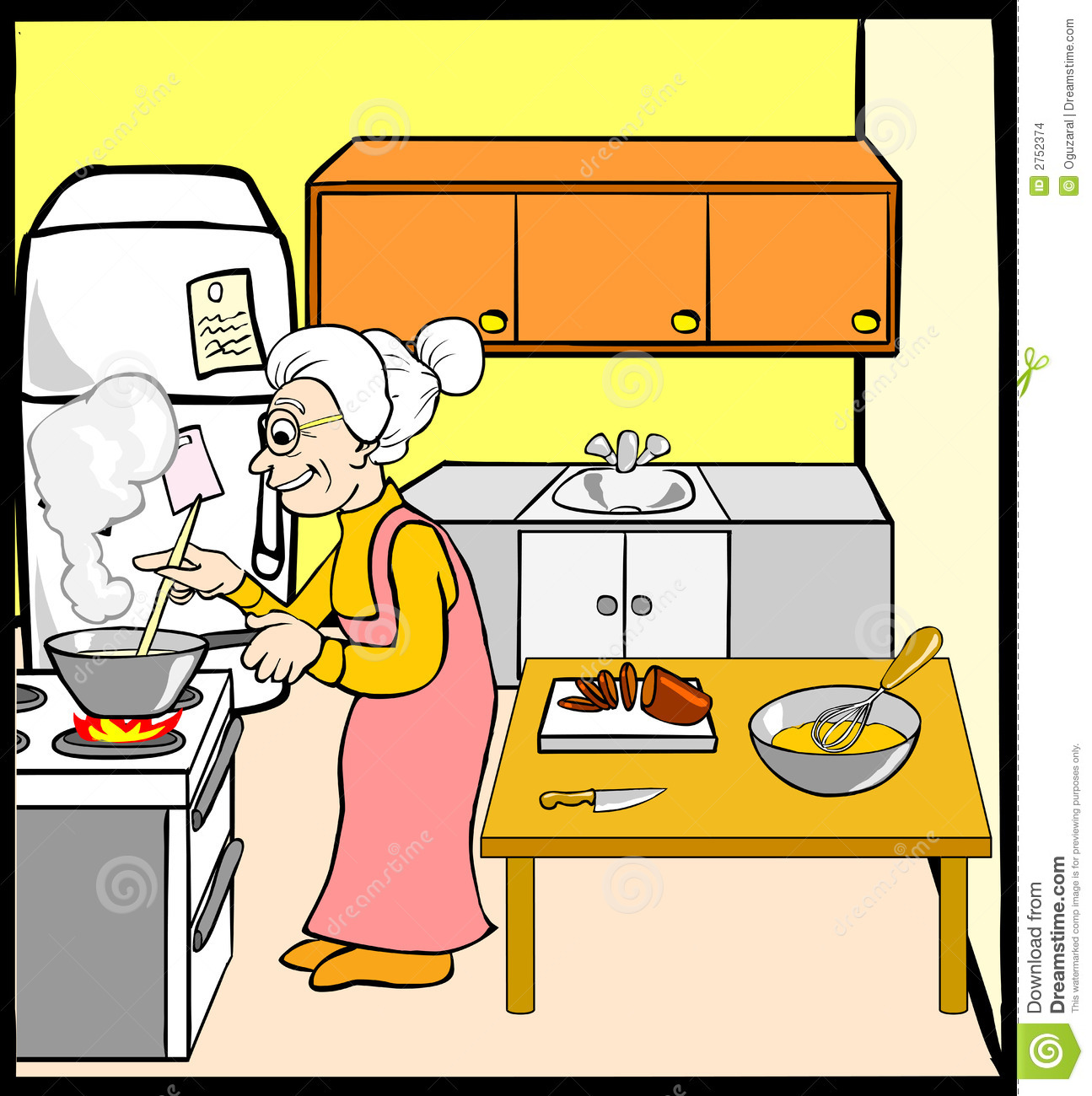 Cartoon Kitchen Clipart