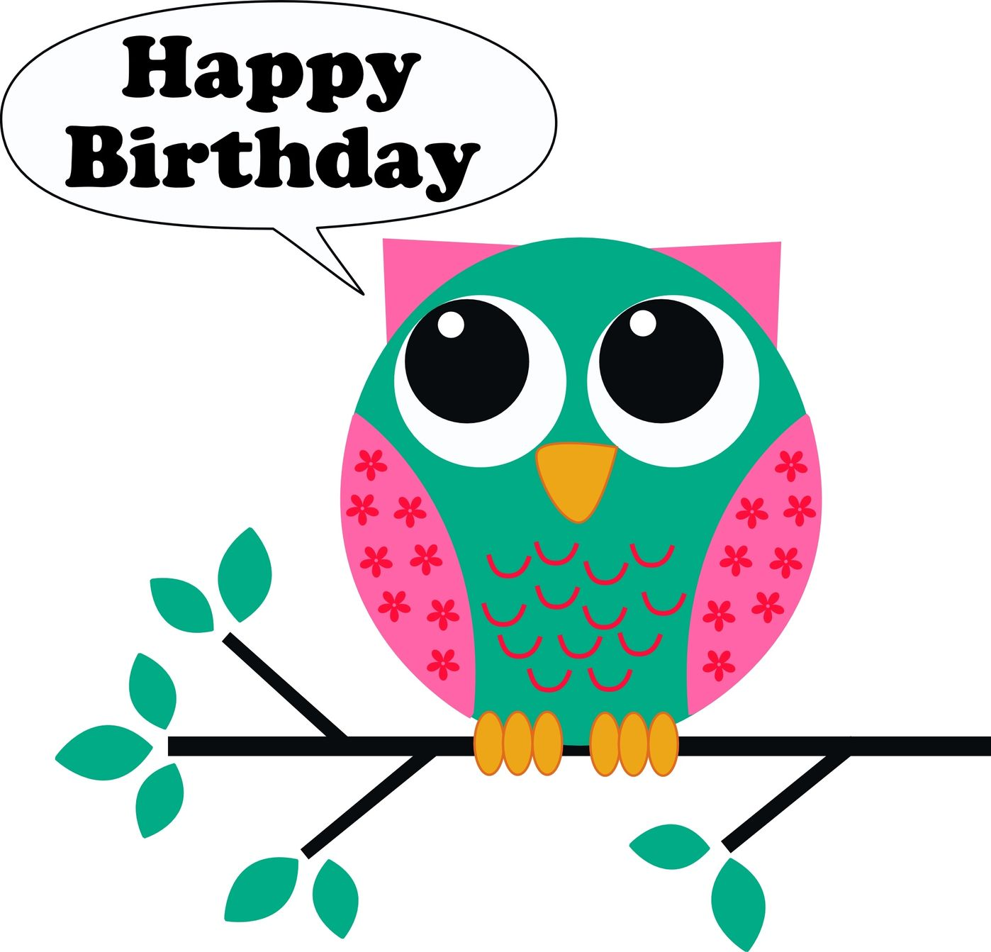 Happy Birthday Owl Clipart - Clipart Suggest