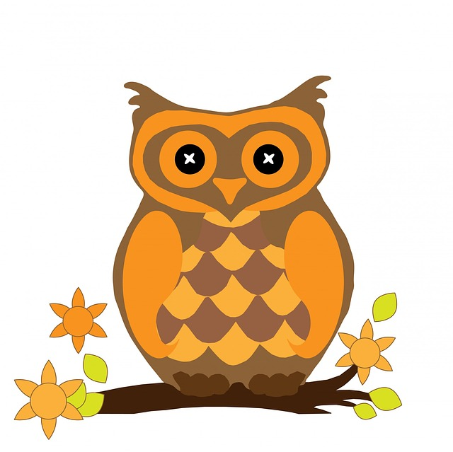 Owl Bird Halloween Clipart Orange Cute Art