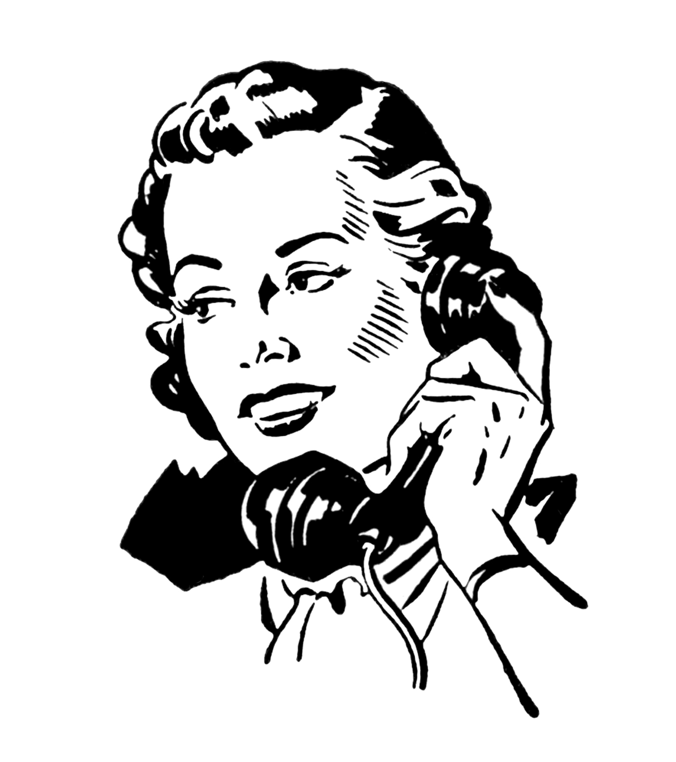 People Talking On The Phone Clipart Retro Pictures People On