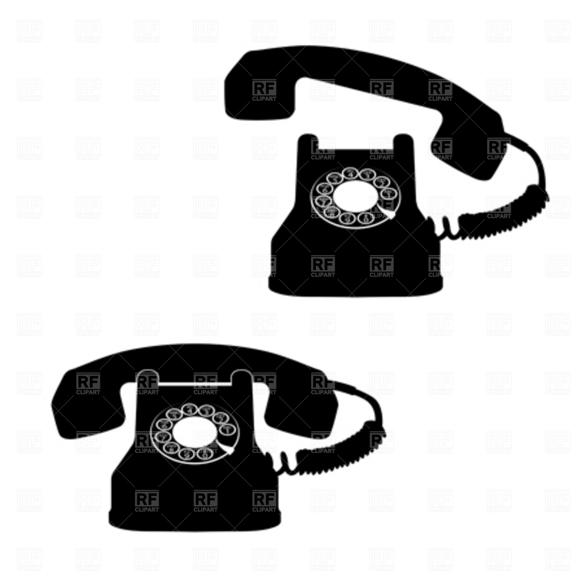 Retro Telephone Download Royalty Free Vector Clipart  Eps