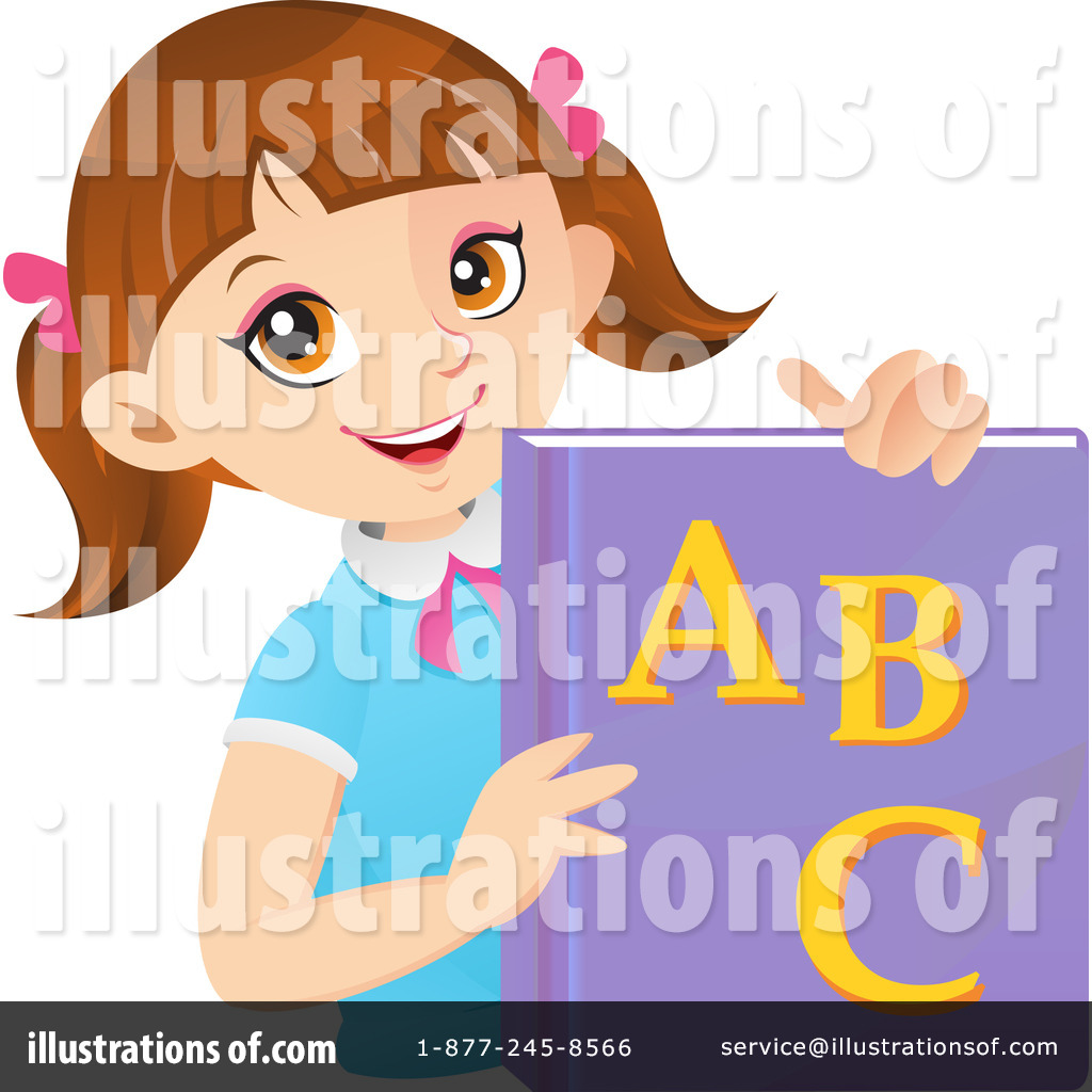 School Girl Clipart Illustration  1210850 By Cartoon Character Studio