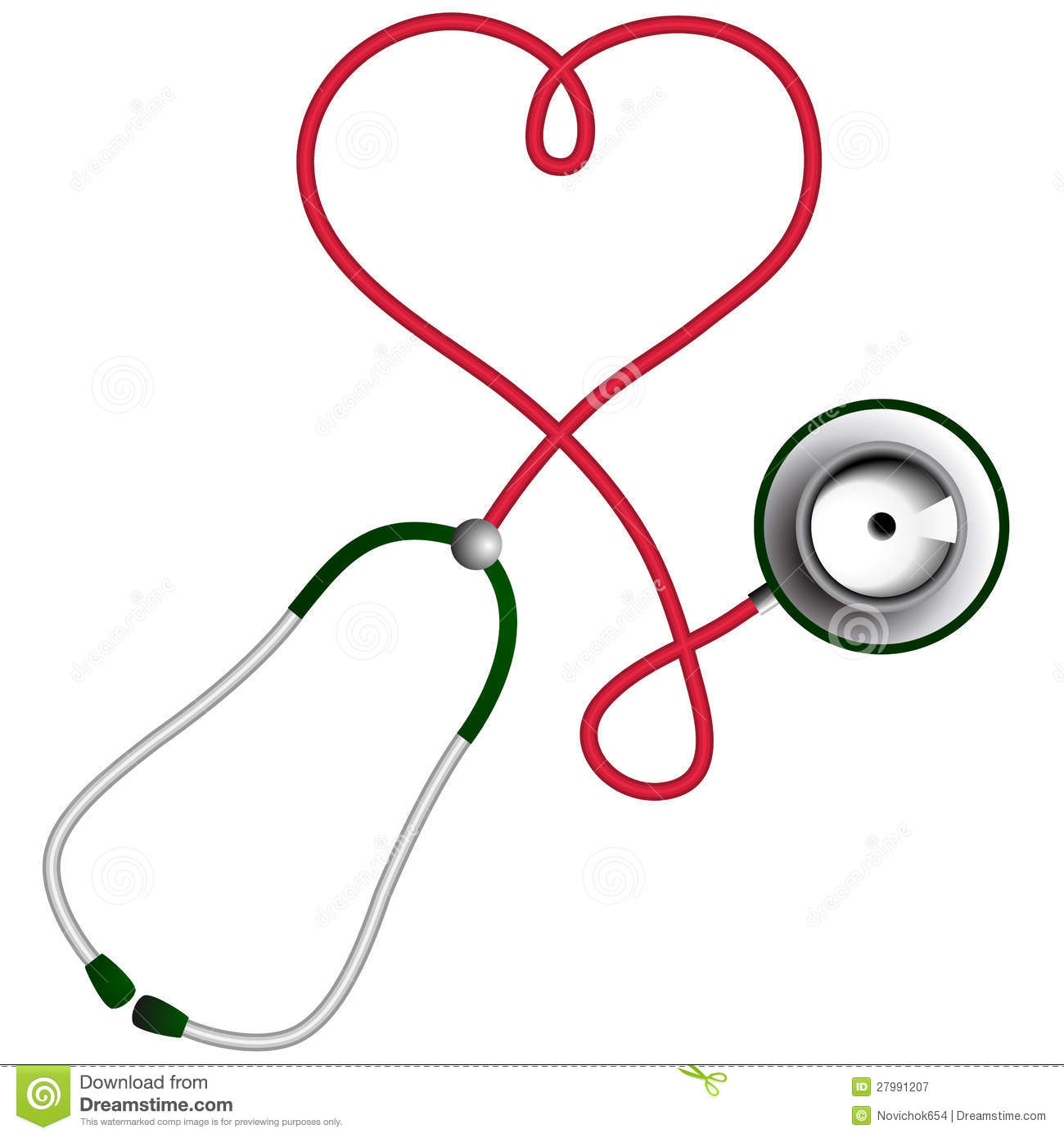 Stethoscope Heart Vector